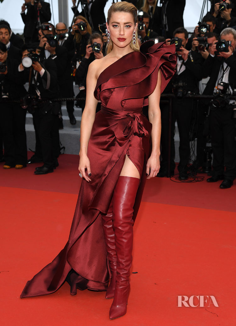 Amber Heard In Elie Saab - 'Pain And Glory (Dolor Y Gloria/ Douleur Et Glorie)' Cannes Film Festival Premiere