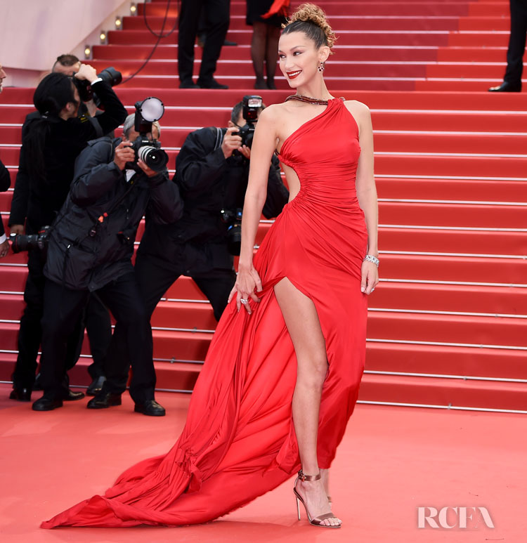 Bella Hadid In Roberto Cavalli Archive - 'Pain And Glory (Dolor Y Gloria/ Douleur Et Glorie)' Cannes Film Festival Premiere