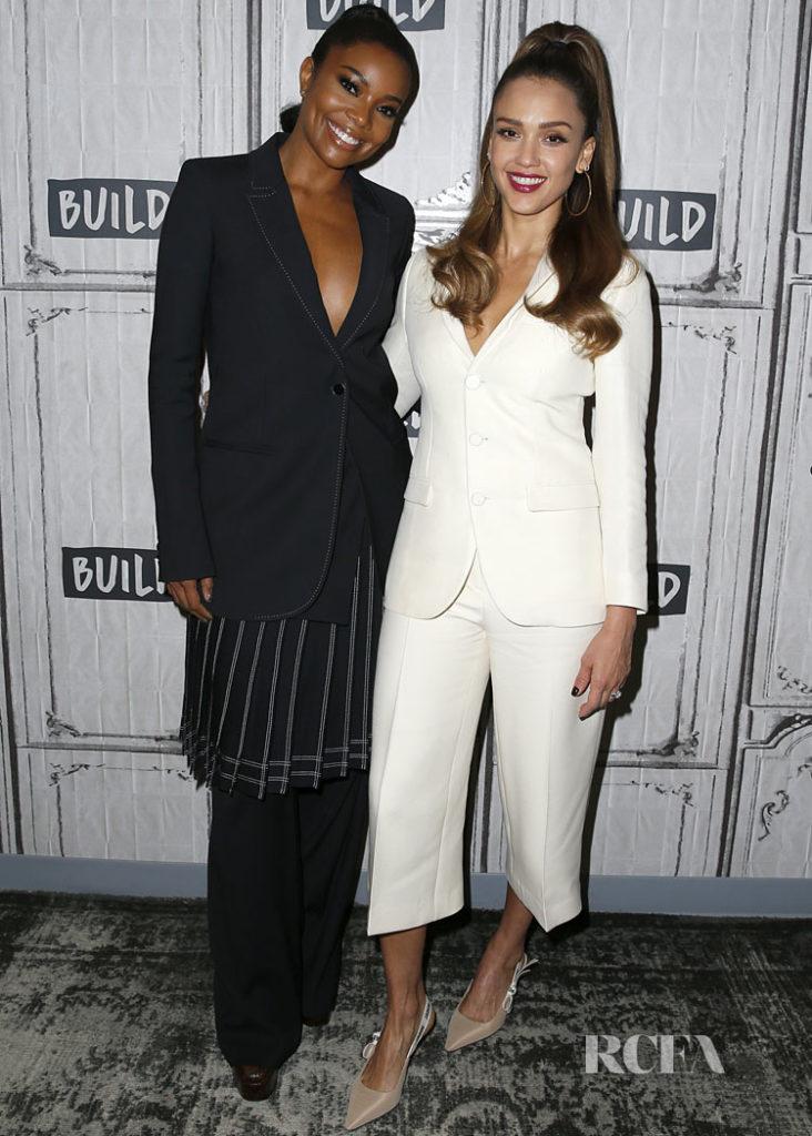 Gabrielle Union in Off-White Pre-Fall 2019 & Jessica Alba in Dior Build Series: 'L.A.'s Finest'