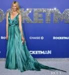 Claudia Schiffer's Classic Aqua Glamour For The 'Rocketman' New York Premiere