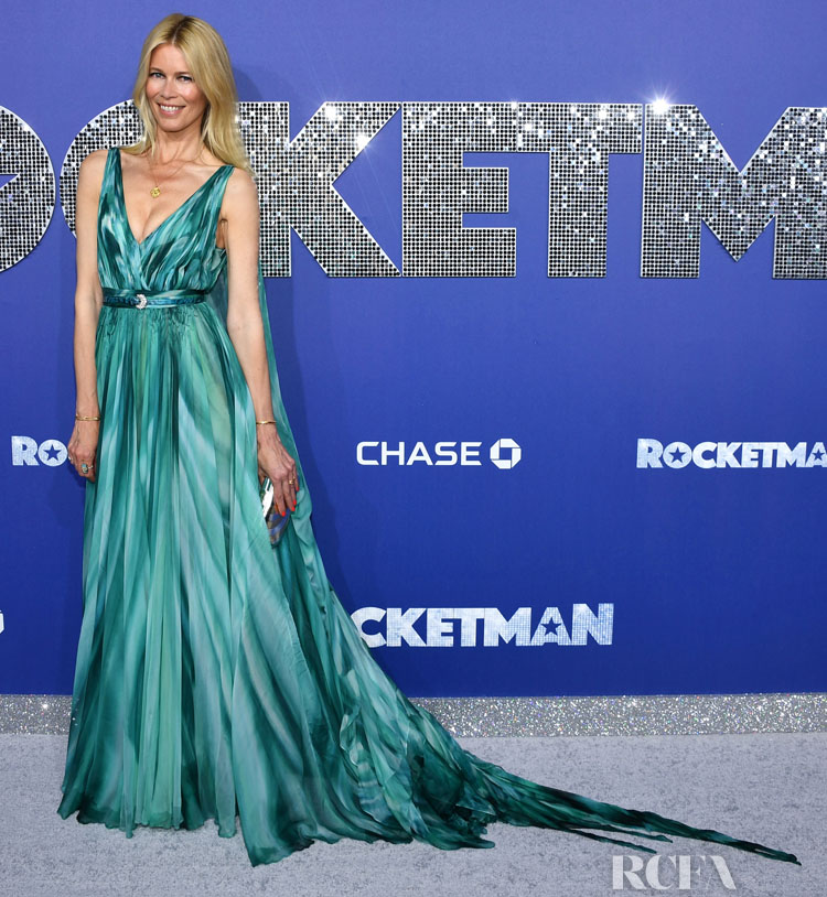 Claudia Schiffer's Aqua  Classic Glamour For The 'Rocketman' New York Premiere