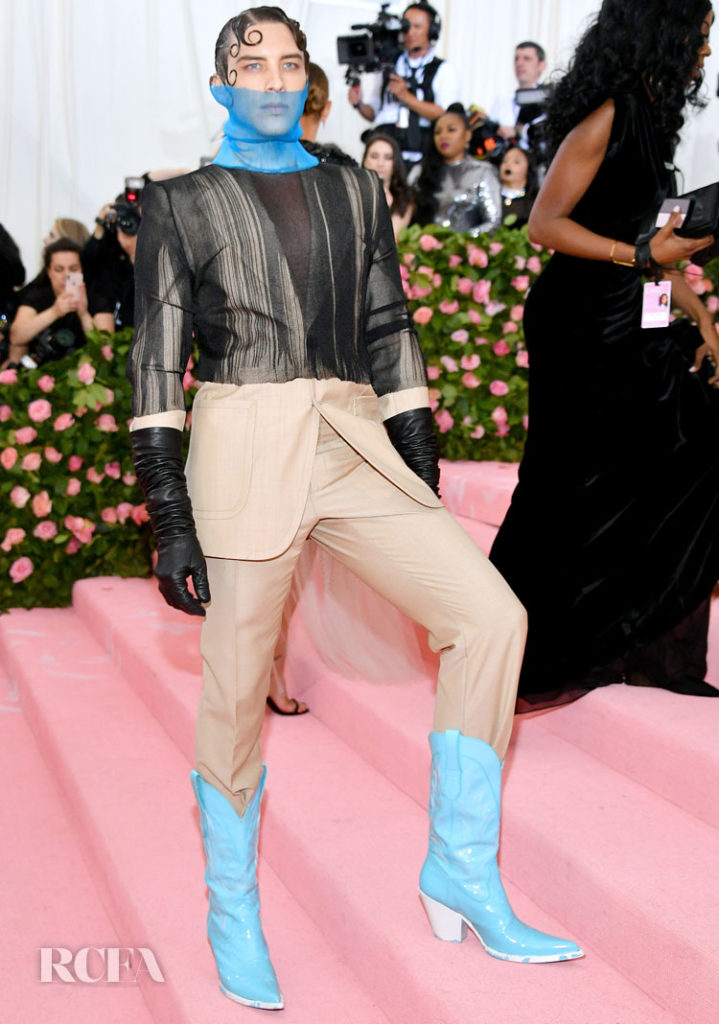 Cody Fern Rocks Two Maison Margiela Artisanal Men's by John Galliano To The 2019 Met Gala
