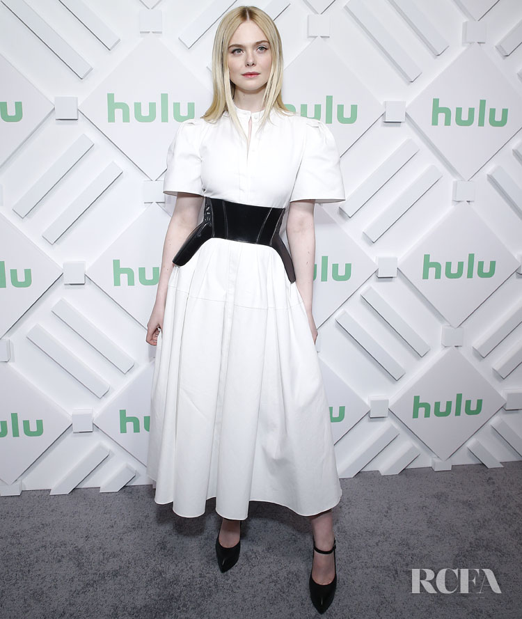 Elle Fanning In Alexander McQueen The 2019 Hulu Upfront Event
