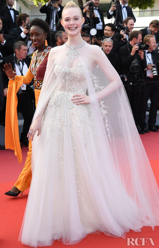 Elle Fanning In Reem Acra - Cannes Film Festival Closing Ceremony