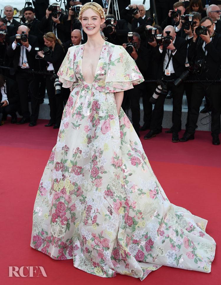 Elle Fanning In Valentino Haute Couture - 'Les Miserables' Cannes Film Festival Premiere