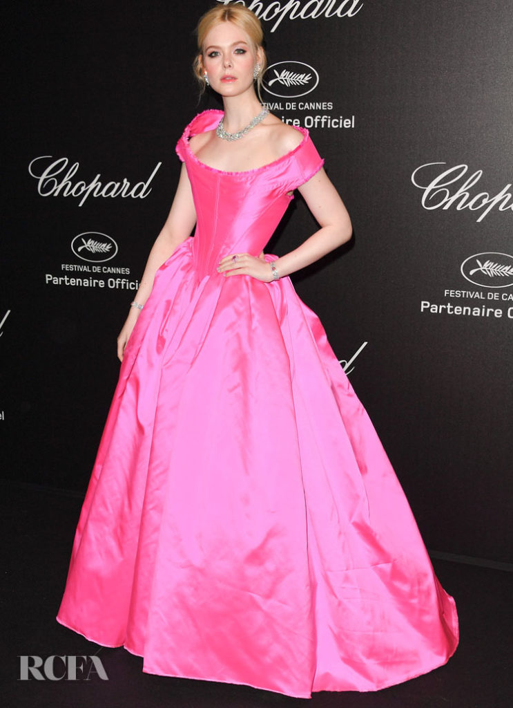 Elle Fanning In Vivienne Westwood Couture - 'Love Night' Chopard Gala
