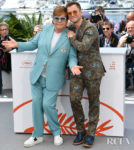 Elton John In Gucci & Taron Egerton In Etro - 'Rocketman' Cannes Film Festival Photocall