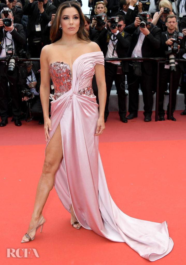 Eva Longoria In Alberta Ferretti Limited Edition - 'The Dead Don't Die' Cannes Film Festival Premiere & Opening Ceremony