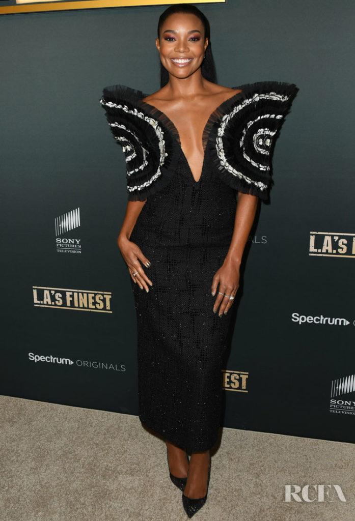 Gabrielle Union Black Magic For The 'L.A.'s Finest' Premiere