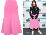 Gemma Chan's A.W.A.K.E MODE Fluted Skirt
