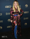 Hilary Duff Goes Floral For The Comedy Central, Paramount Network and TV Land Summer Press Day