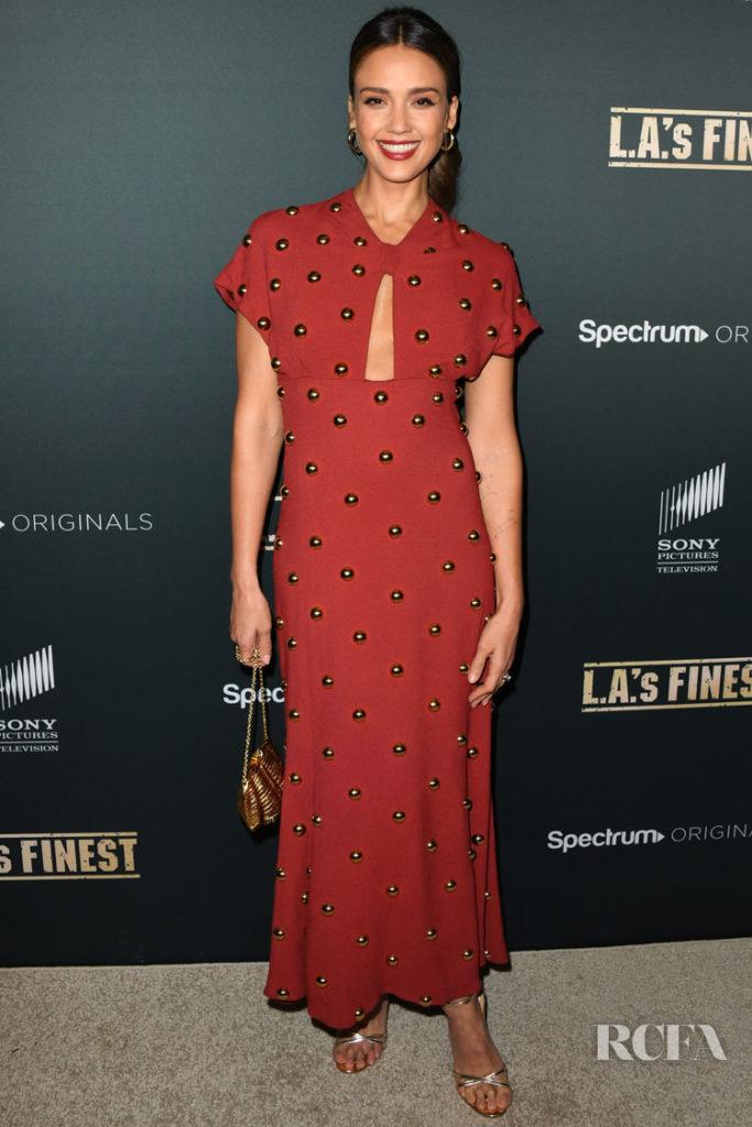 Jessica Alba Shines At The 'L.A.'s Finest' LA Premiere in Proenza Schouler
