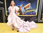 Kathryn Newton's Puffy Pink Gown For The 'Pokeman Detective Pikachu' New York Premiere