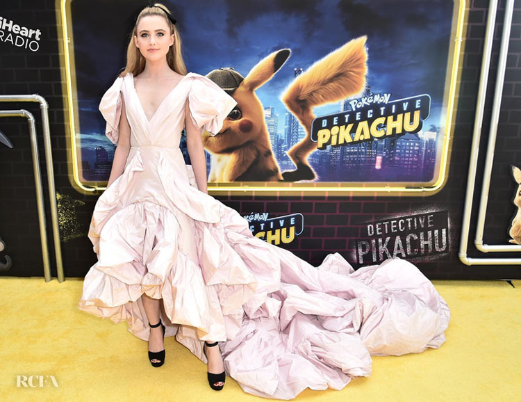 Kathryn Newton's Puffy Pink Gown For The 'Pokeman ...