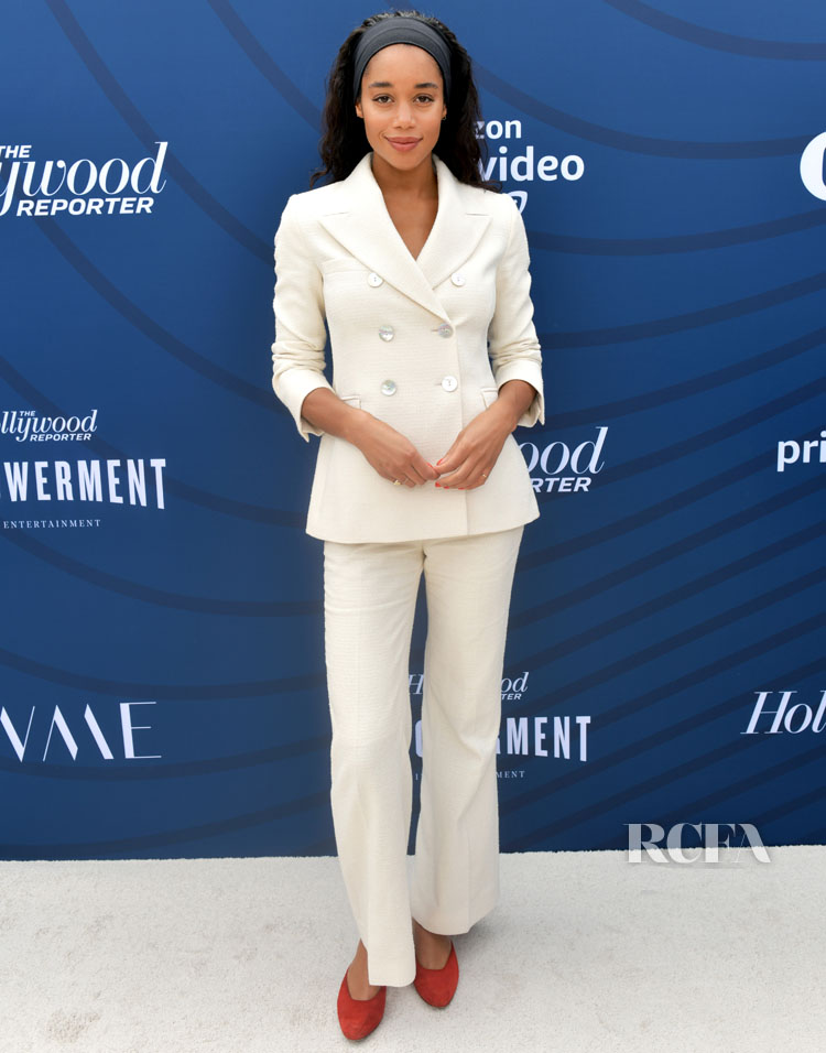 Laura Harrier Suits Up In AlexaChung For The Hollywood Reporter's Empowerment In Entertainment Event
