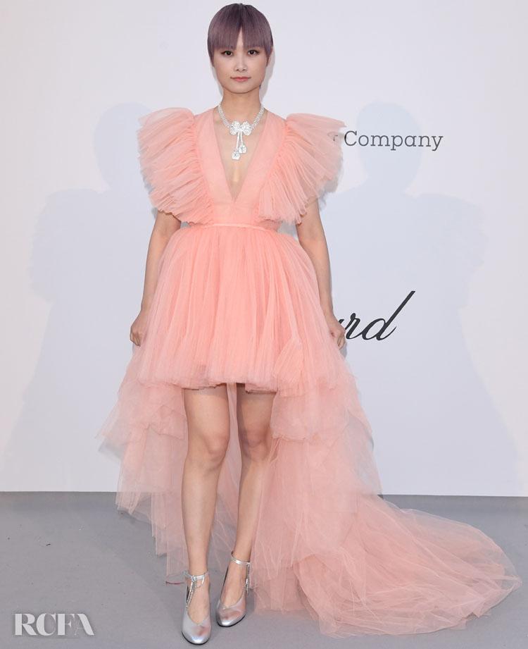 Li Yuchun 李宇春 In Giambattista Valli x H&M – amfAR Cannes Gala 2019
