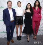 Margot Robbie, Kat Dennings and Jordan Weiss Are A Stylish Trio At The 2019 Hulu Upfront