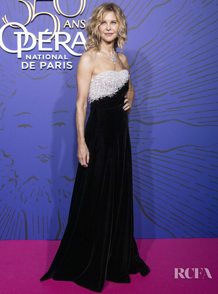 Meg Ryan in Schiaparelli Fall 2018 Haute Couture - Opera 350th Anniversary Gala