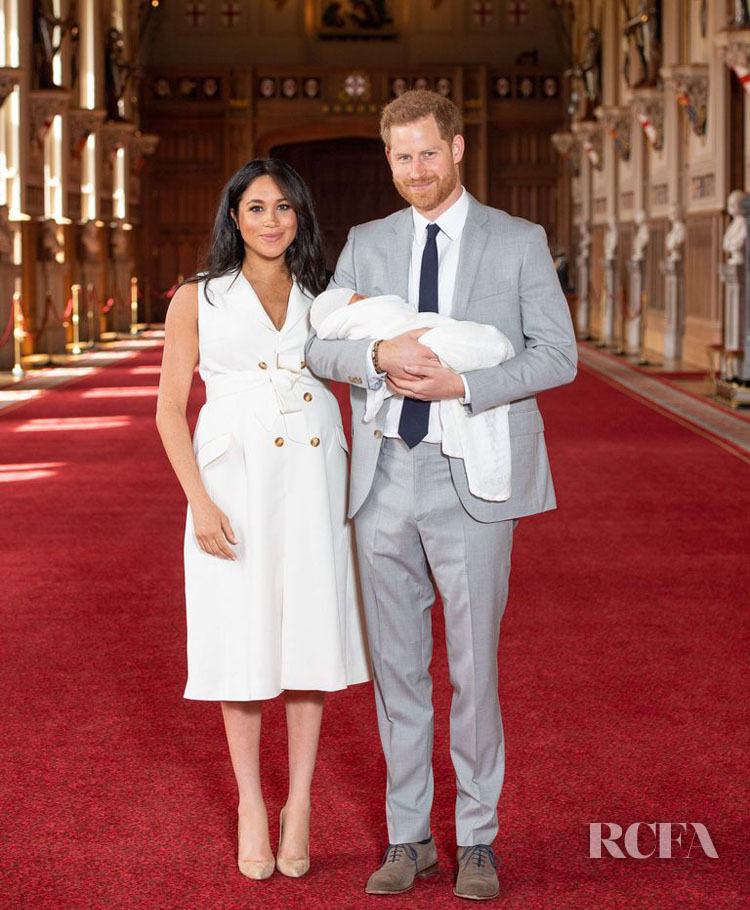 Meghan, Duchess of Sussex Unveils Her Newborn In Givenchy