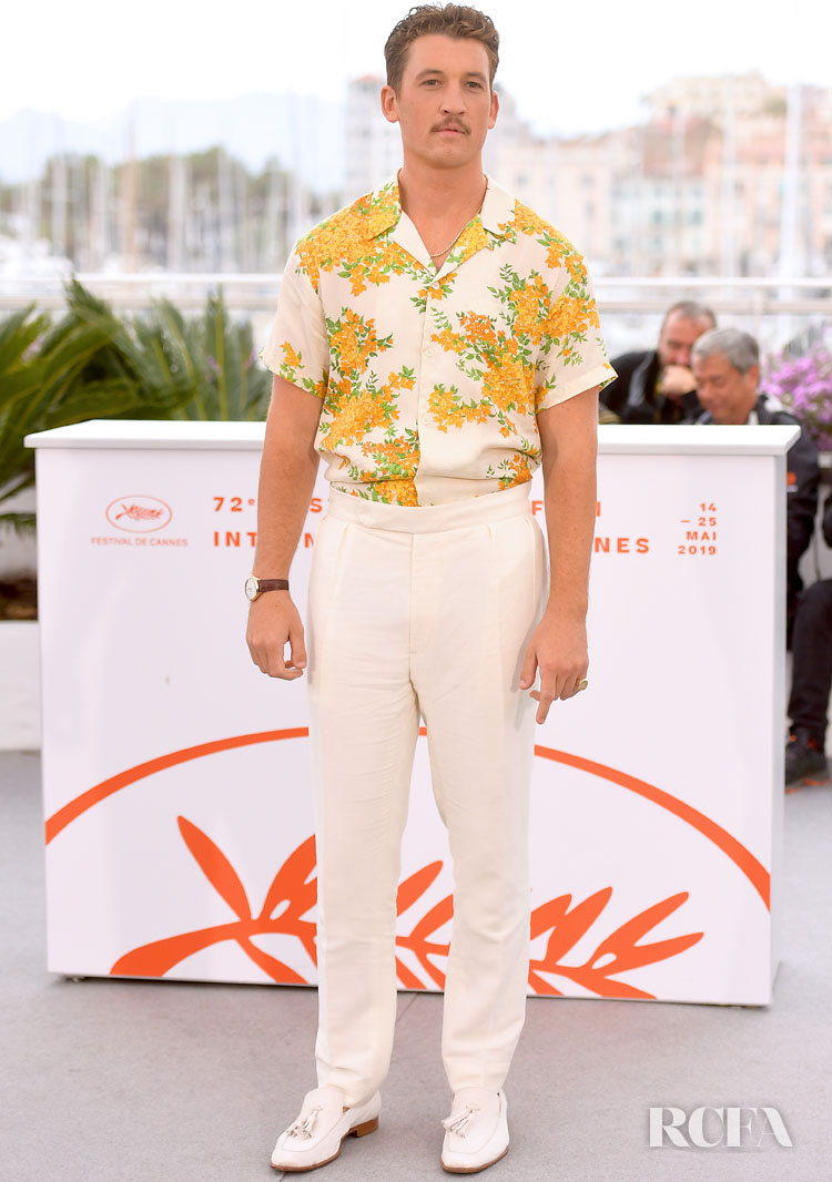 Miles Teller In John Elliott & Roberto Cavalli - 'Too Old To Die Young' Cannes Film Festival Photocall
