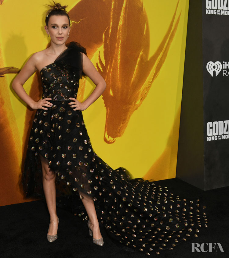 Millie Bobby Brown Goes Glam For The 'Godzilla: King Of The Monsters' LA Premiere