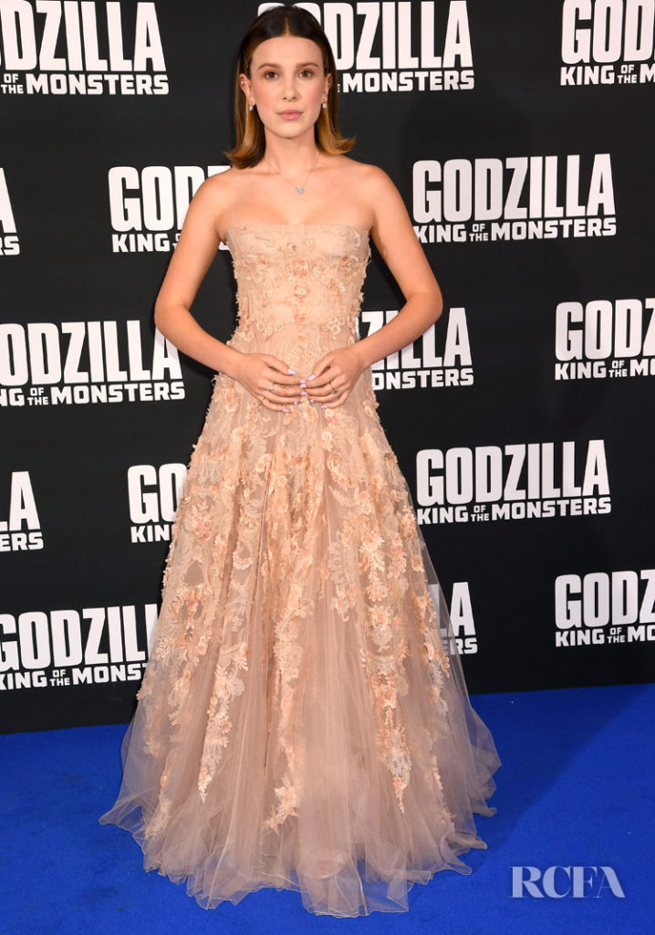 Millie Bobby Brown IN Dior Couture 'Godzilla King of the Monsters' London Premiere