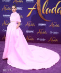 Naomi Scott's Power Pink  'Aladdin' World Premiere Moment