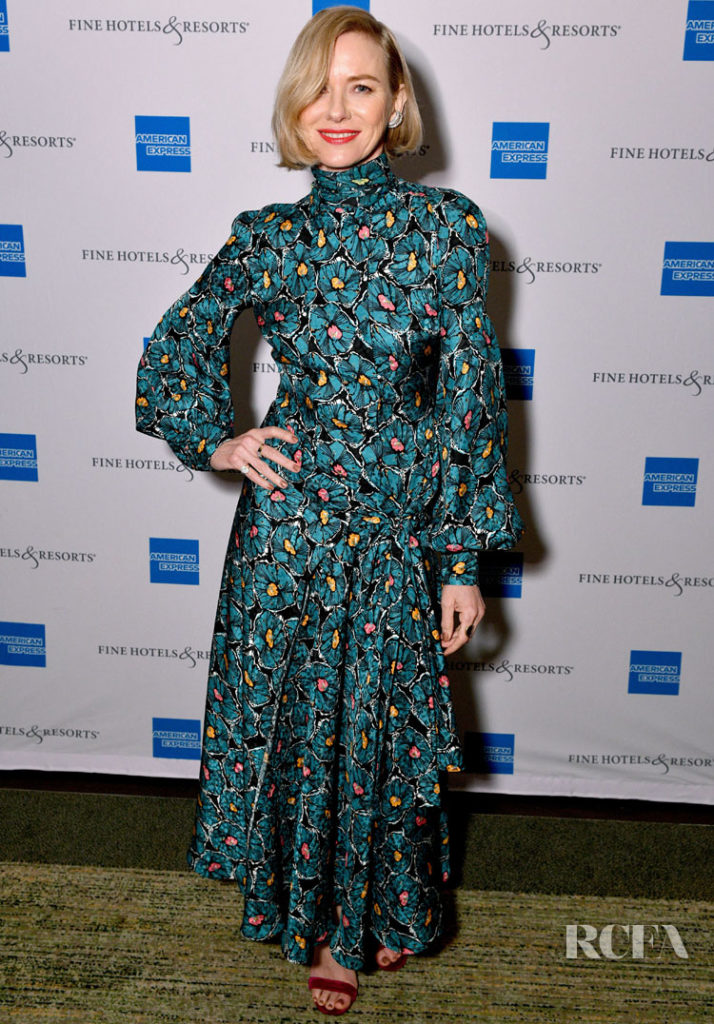 Naomi Watts' Sharp '70s Florals For American Express Travel