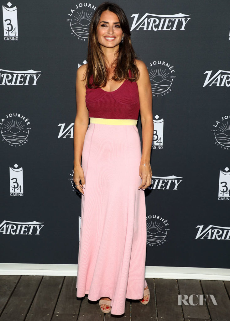 Penelope Cruz's Colour-Block Frock For 'The Journey By The Land' Cannes Film Festival Photocall