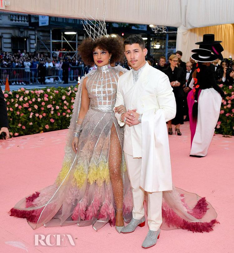 Priyanka Chopra In Christian Dior Haute Couture & Nick Jonas In Dior Men - 2019 Met Gala