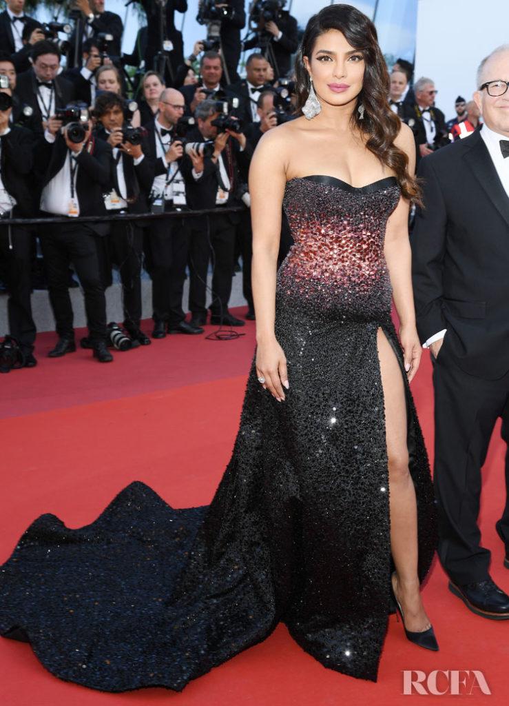 Priyanka Chopra In Roberto Cavalli Couture - 'Rocketman' Cannes Film Festival Premiere