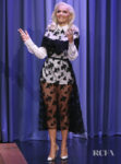 Rita Ora Rocks A Rebellious Chic Lace Dress On Jimmy Fallon