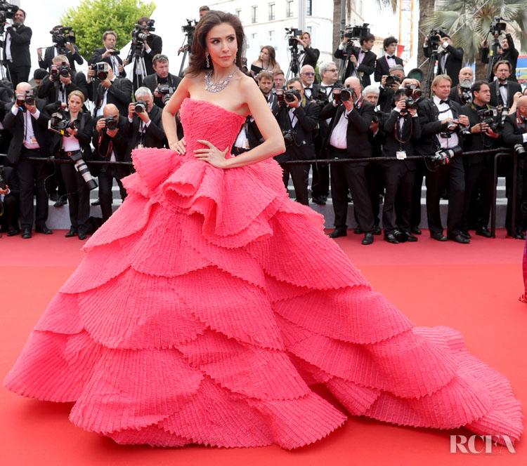 Rita Sririta Jensen In Michael Cinco Couture - 'Les Miserables' Cannes Film Festival Premiere