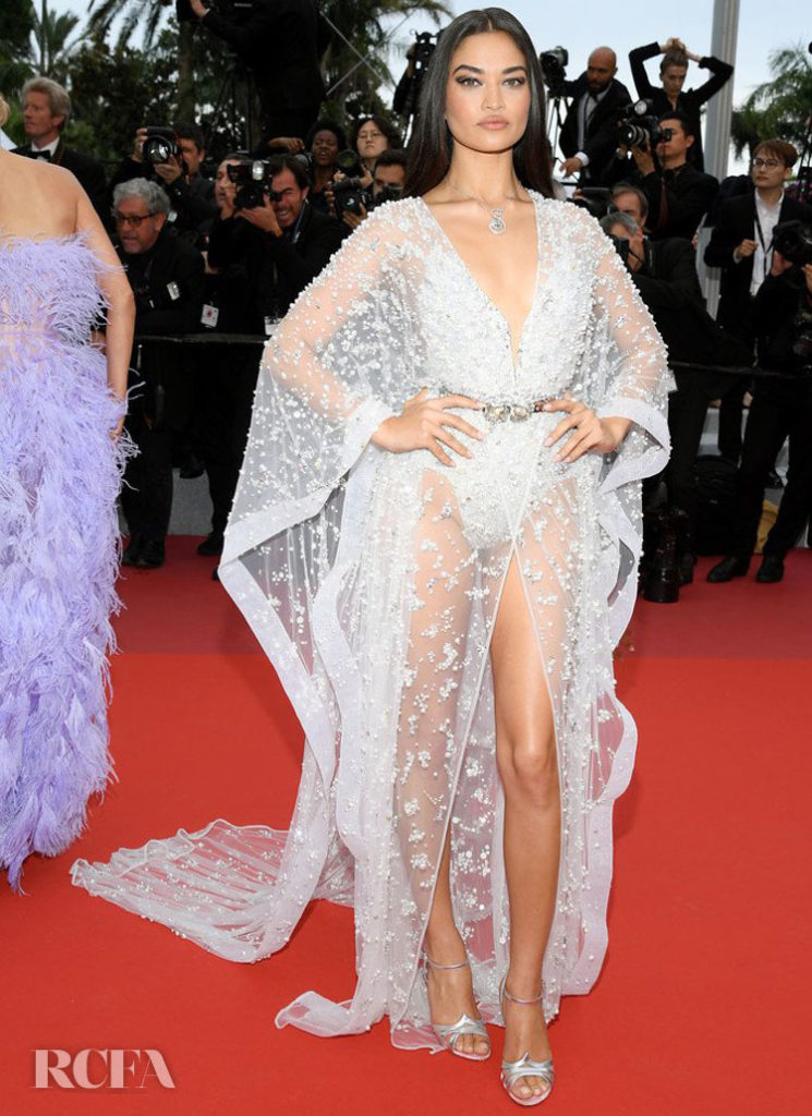 Shanina Shaik In Zuhair Murad Couture - 'Sibyl' Cannes Film Festival Premiere