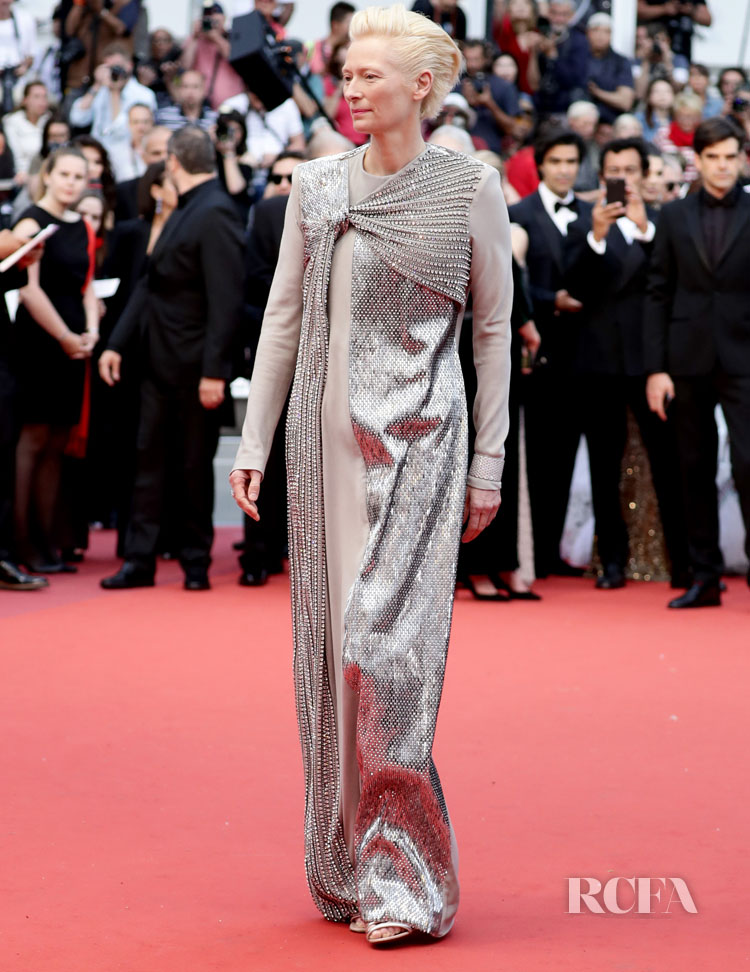 Tilda Swinton In Haider Ackermann - 'The Dead Don't Die' Cannes Film Festival Premiere & Opening Ceremony