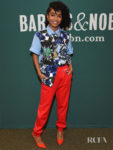 Yara Shahidi Rocks Bold Hues To The 'The Sun Is Also A Star' Book Signing