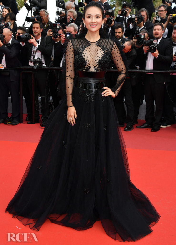 Zhang Ziyi In Zuhair Murad - 'Once Upon a Time In Hollywood' Cannes Film Festival Premiere