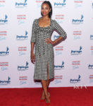 Zoe Saldana Highlights Houndstooth For Jhpiego's Los Angeles Gala