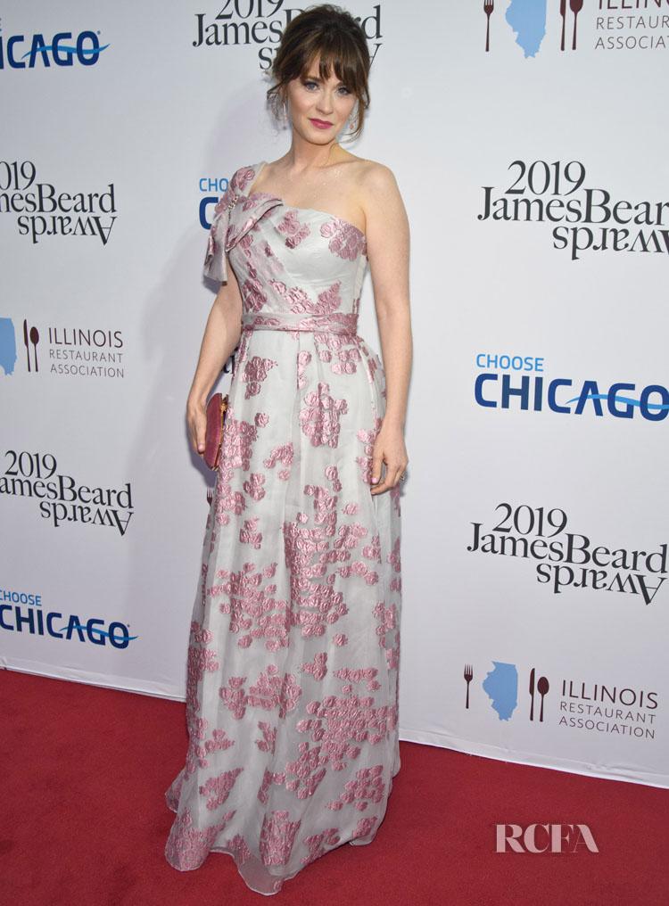 Zooey Deschanel In Jenny Packham -  2019 James Beard Foundation Awards Gala