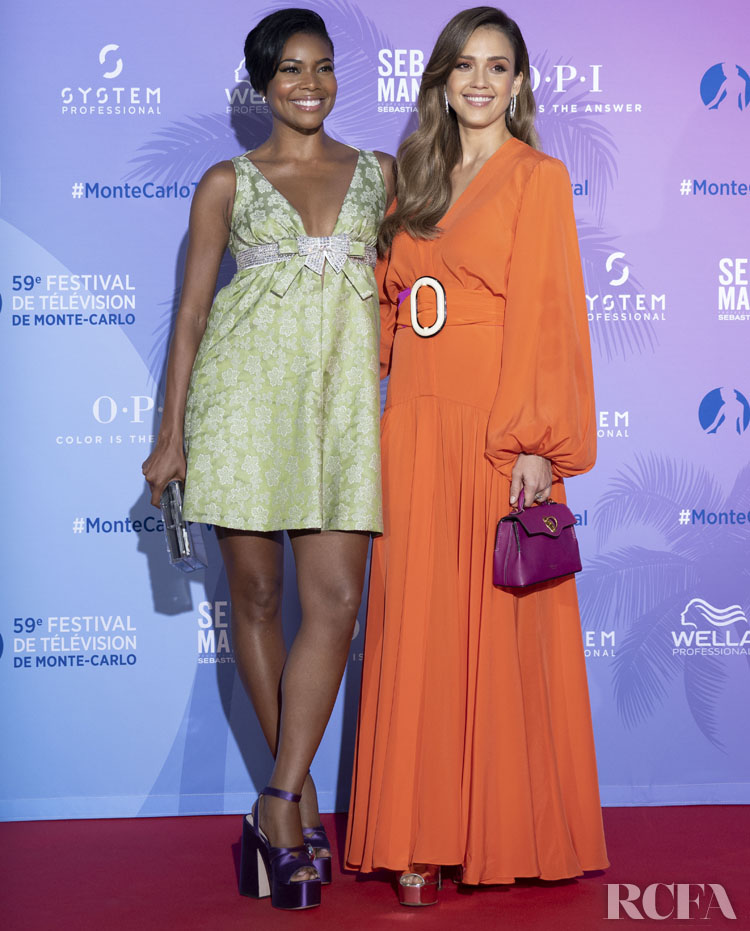 Gabrielle Union & Jessica Alba Attend The 2019 Monte Carlo TV Festival : TV Series Party