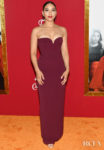 Alexandra Shipp's Sleek Strapless Gown For The 'Shaft' New York Premiere