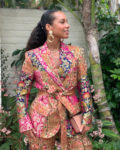 Alicia Keys' Petal Power Suit