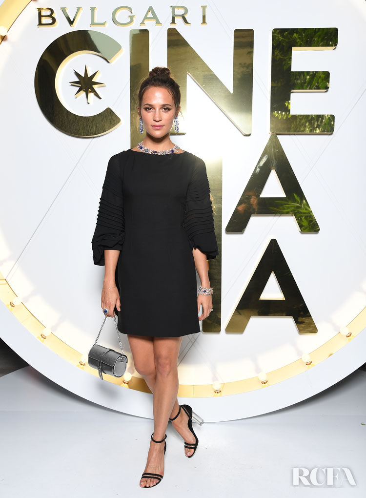 Alicia Vikander's LBD For The Bvlgari High Jewelry
