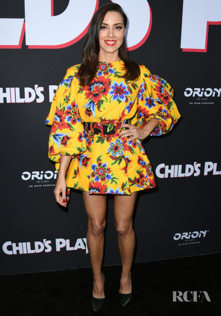 Aubrey Plaza in Carolina Herrera - 'Child's Play' LA Premiere