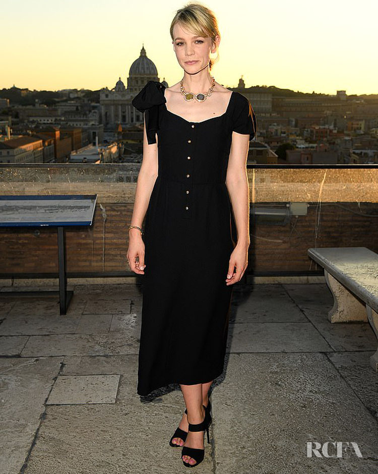 Carey Mulligan Was Chic In Black Prada For Bvlgari