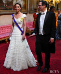 Catherine, Duchess Of Cambridge Was Lovely In Lace For The State Dinner With The Trumps