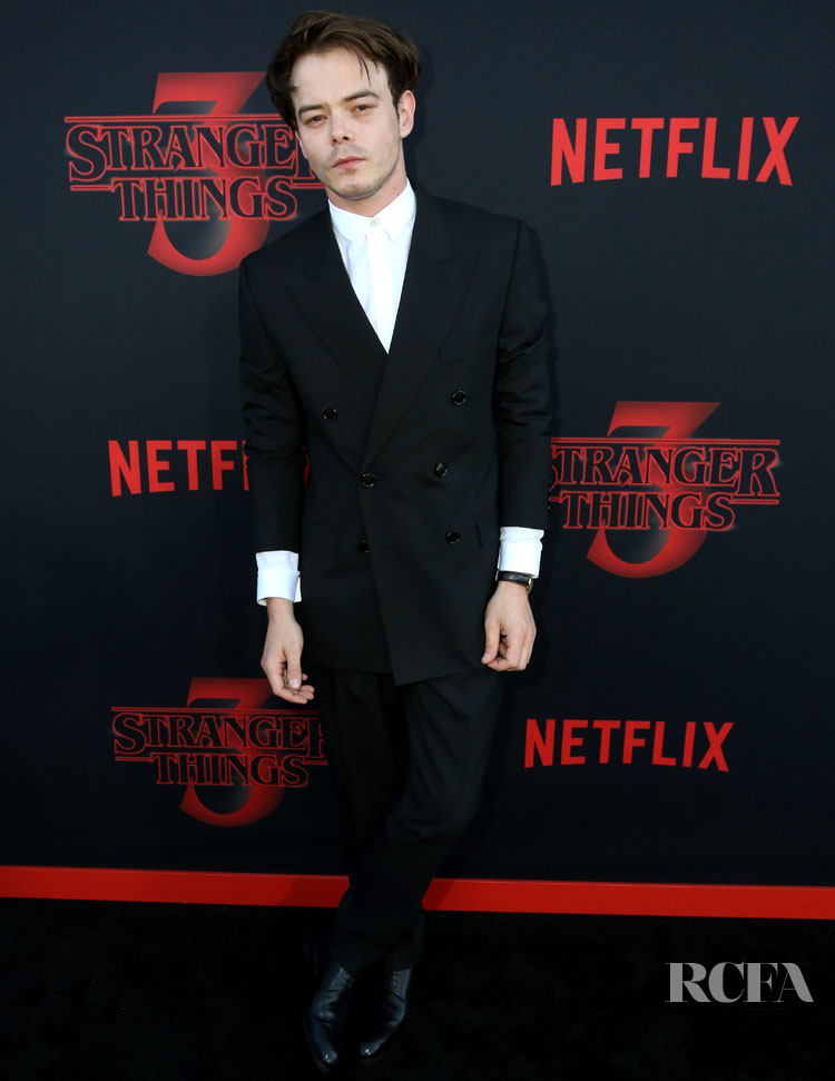 Charlie Heaton In Dior Men - 'Stranger Things 3' LA Premiere