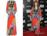 Christina Hendricks' Etro Printed Maxi Dress