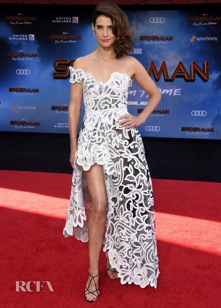 Cobie Smulders' Asymmetric Style For The 'Spider-Man: Far From Home' LA Premiere