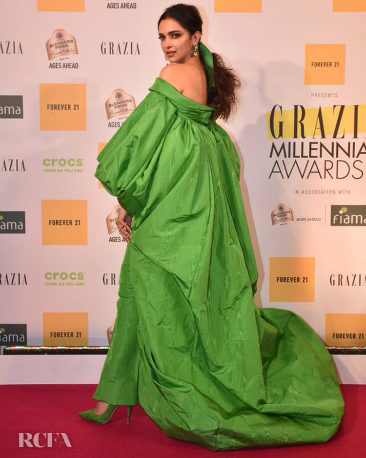 Deepika Padukone Goes Green At The Grazia Awards